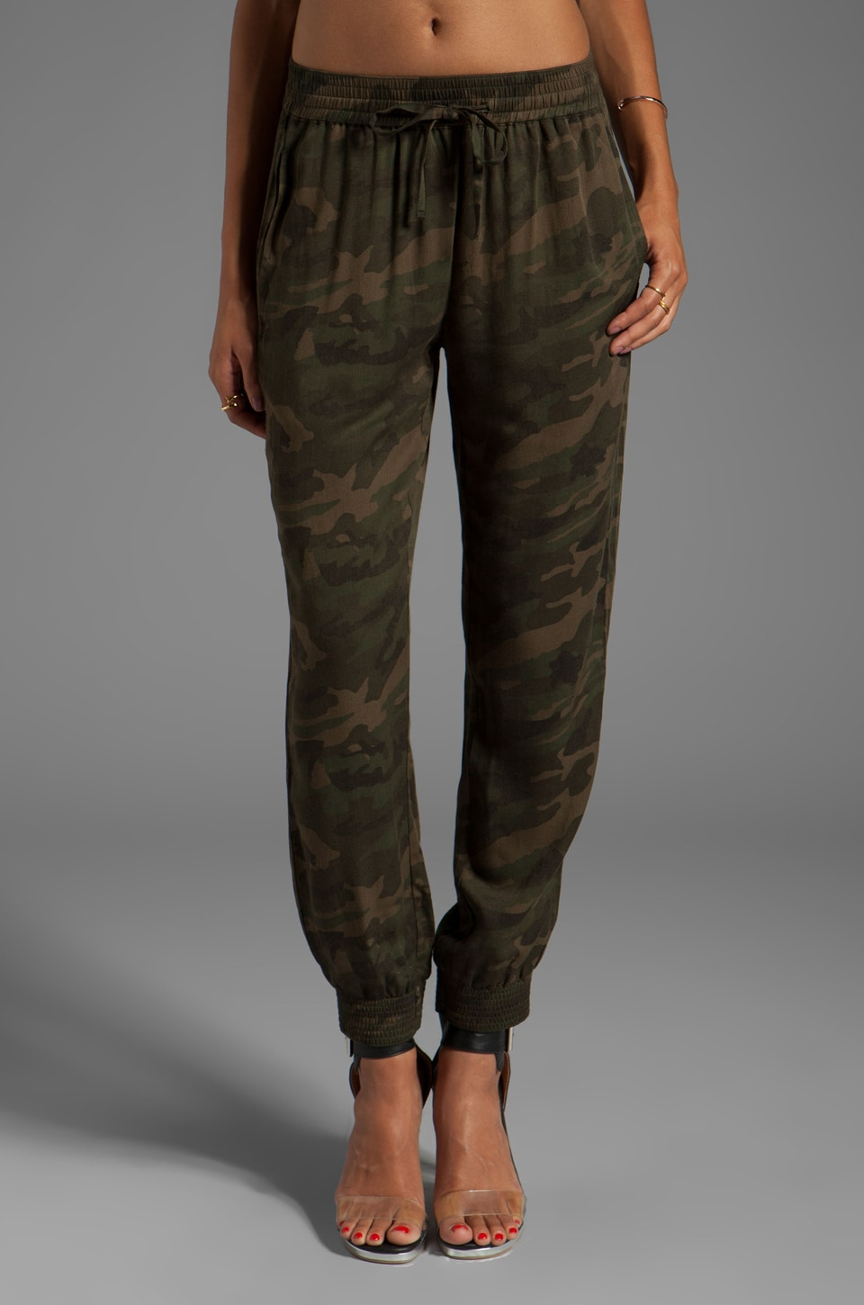 Lovers + Friends for REVOLVE Smocked Trouser in Camo