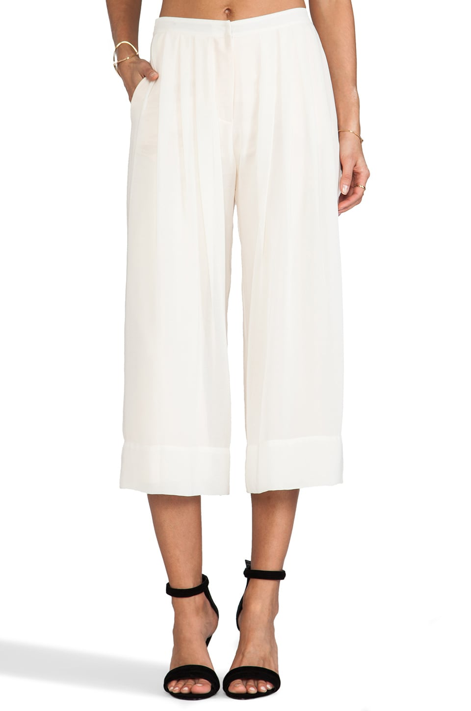 Lovers + Friends x Monica Rose Cannes Gaucho Pants in Bone