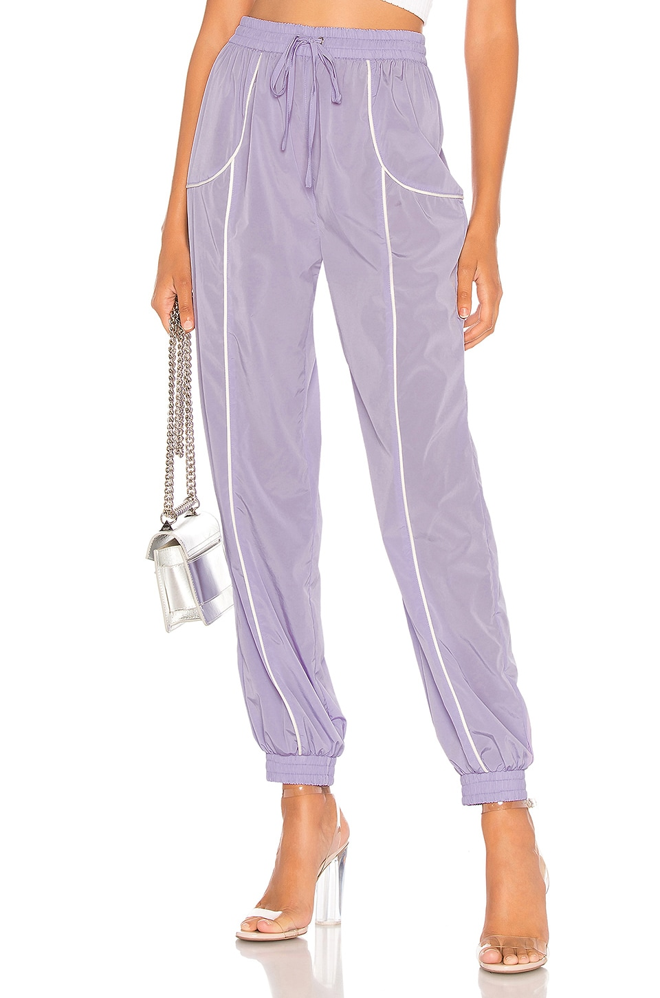 Lovers + Friends Liz Track Pant in Lilac
