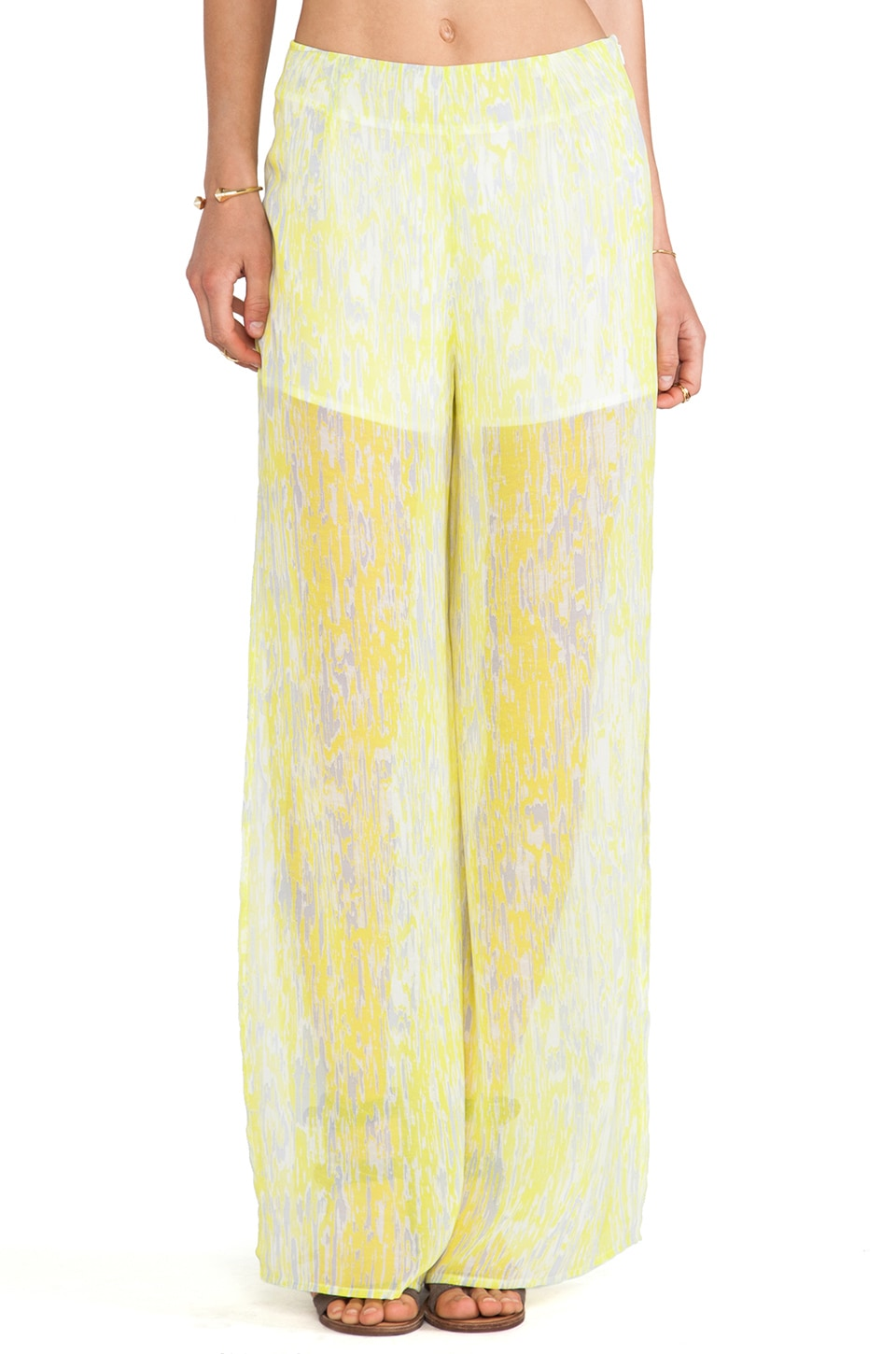 Lovers + Friends Scorpio Pants in Abstract Yellow