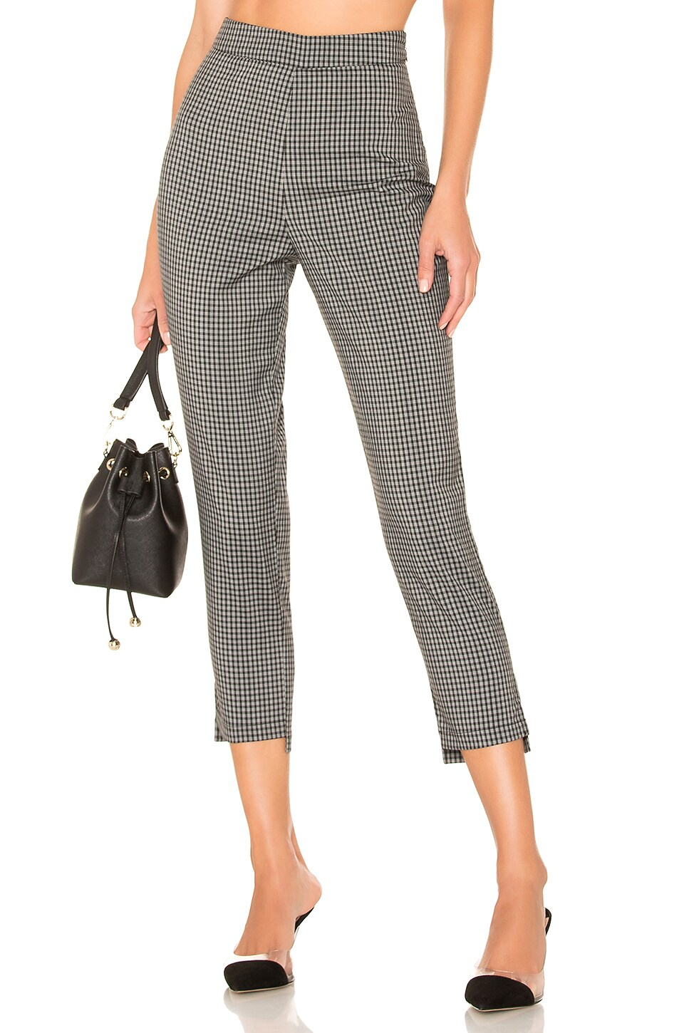Lovers + Friends Young Professional Pants in Black & White Check