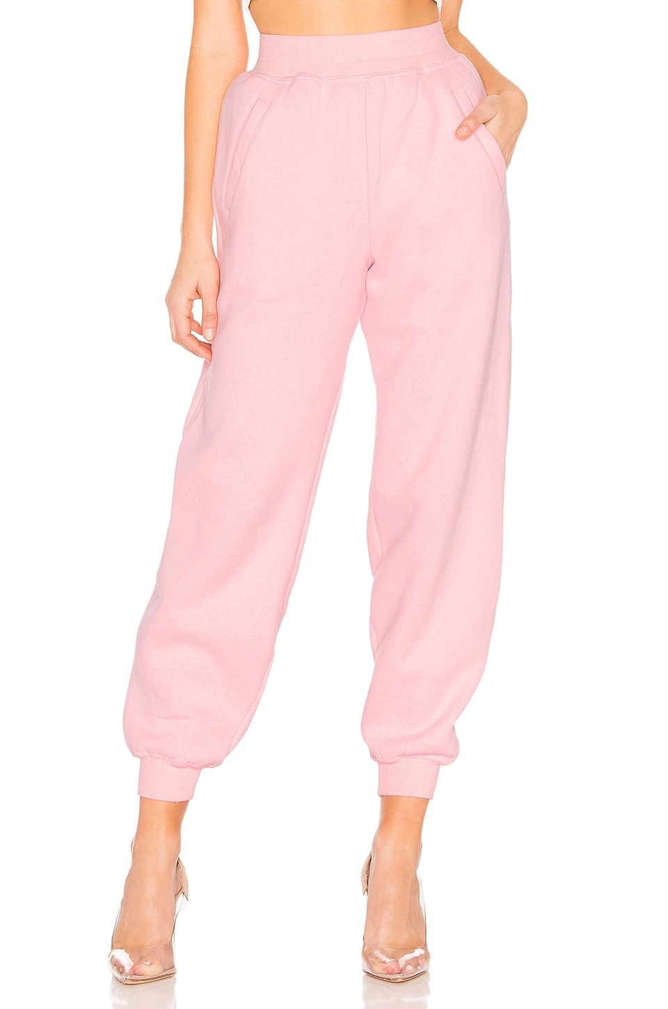 Lovers + Friends Charlie Jogger Pant in Light Pink