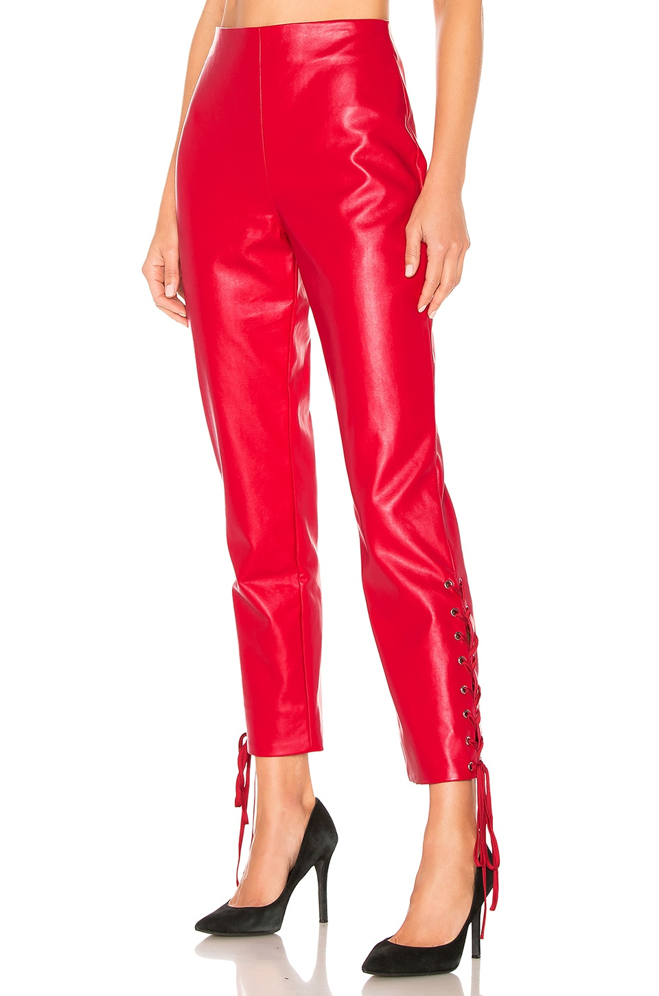 Lovers + Friends Zed Pant in Cherry Red