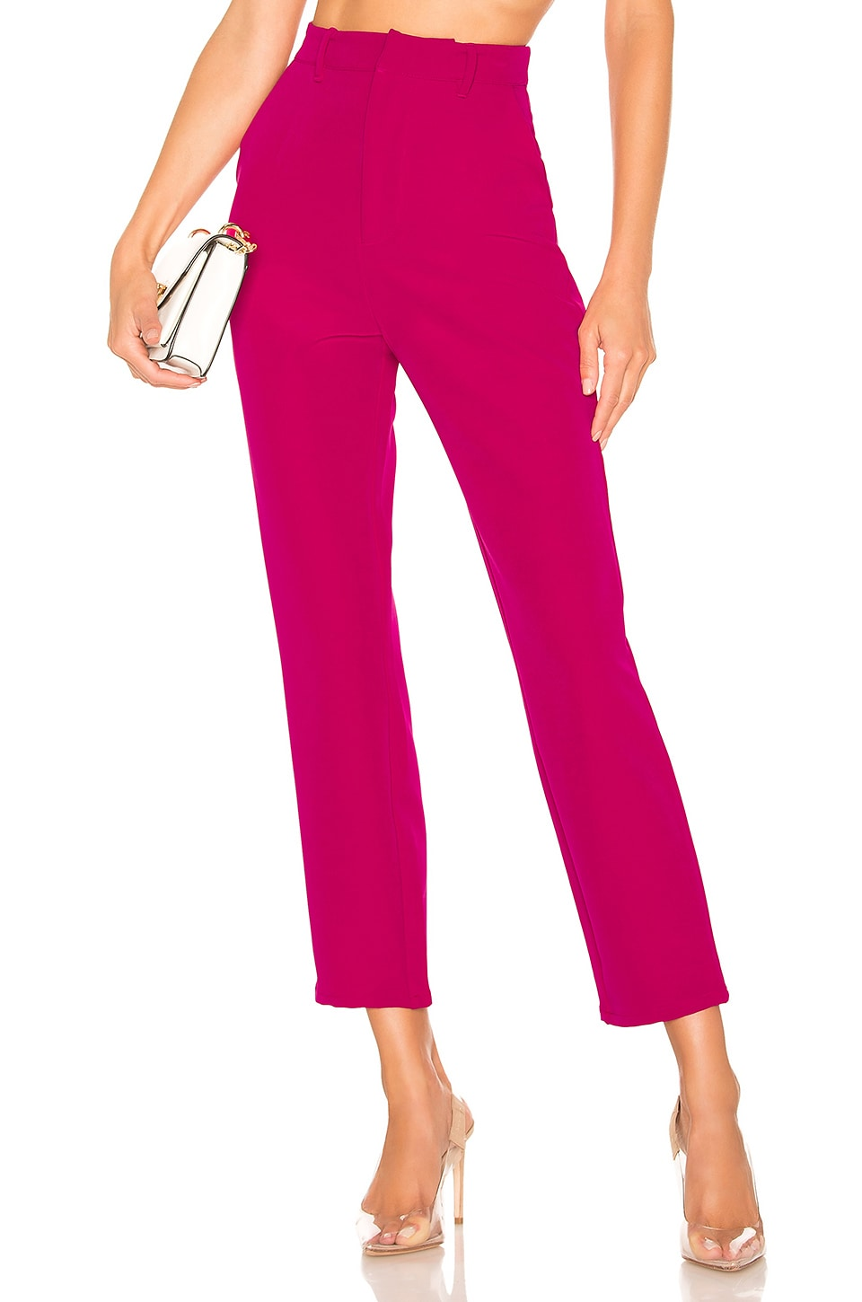 Lovers + Friends Tempo Skinny Pant in Magenta