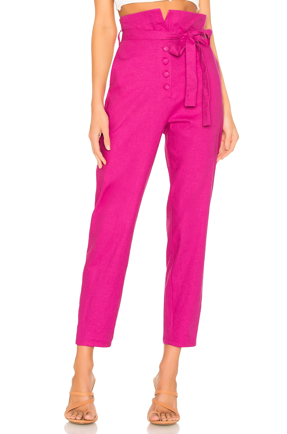 Lovers + Friends Calvin Pant in Magenta