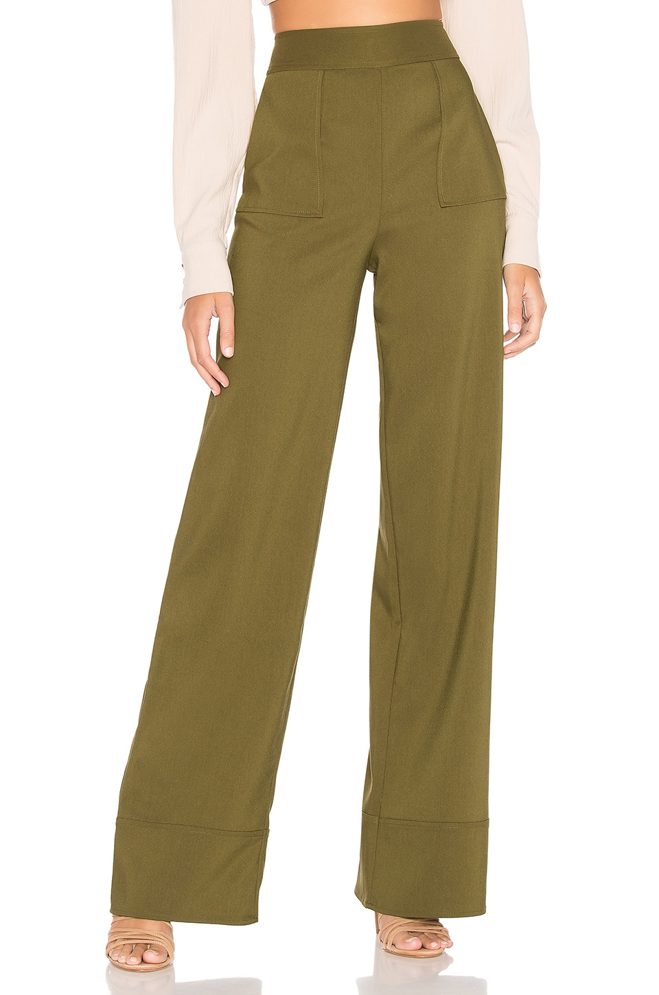 Lovers + Friends Sedge Pant in Army