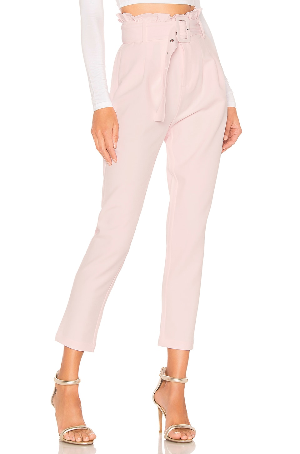 Lovers + Friends Eugene Pants in Blush
