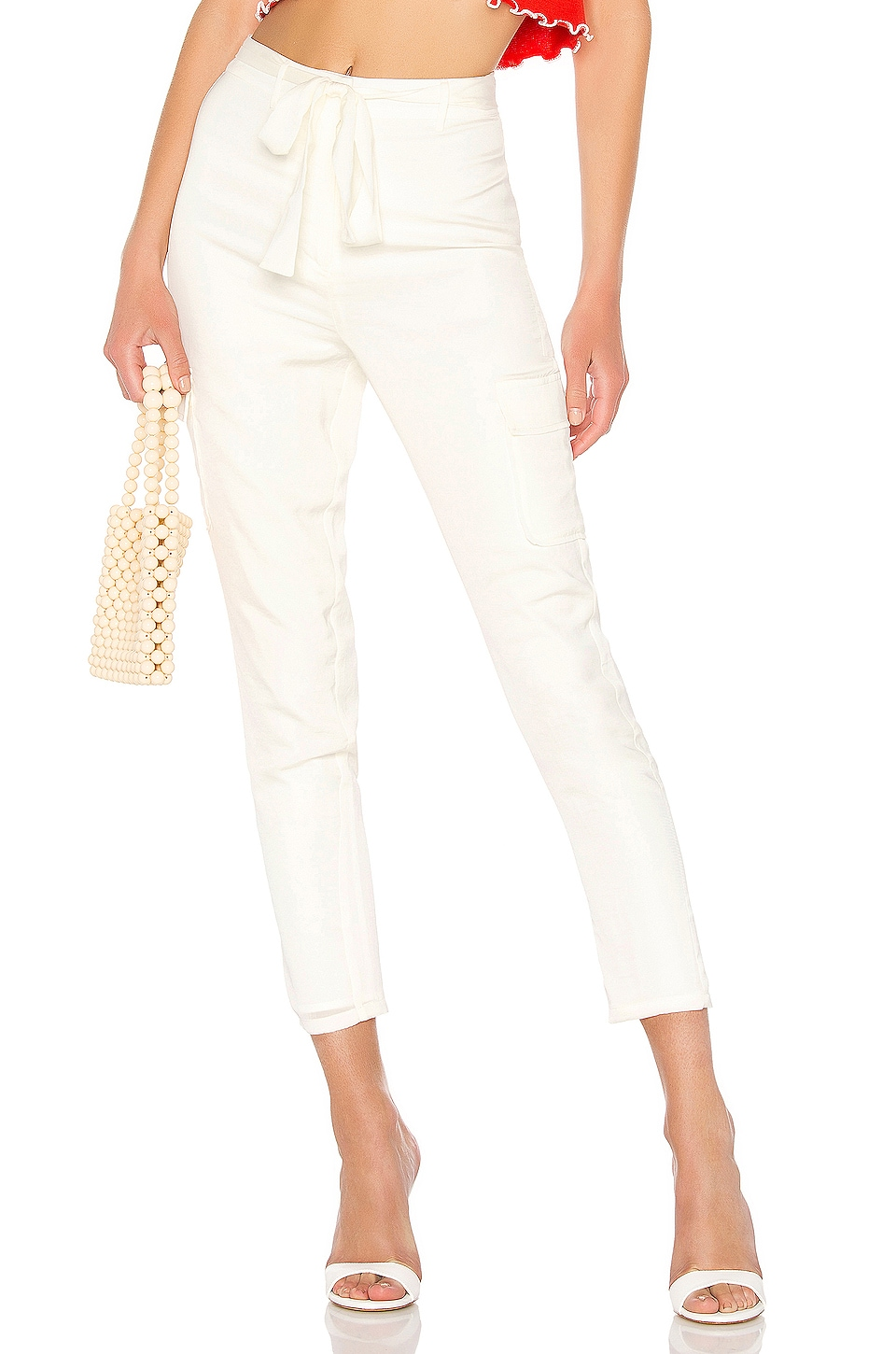 Lovers + Friends Clarissa Pants in Ivory