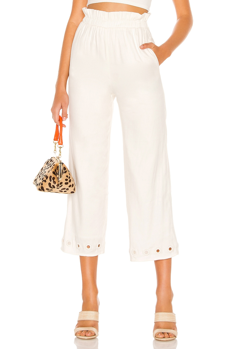 Lovers + Friends Brooker Pant in Ivory