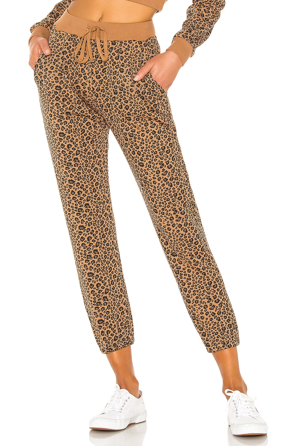 Lovers + Friends Kimber Sweatpants in Tan Leopard