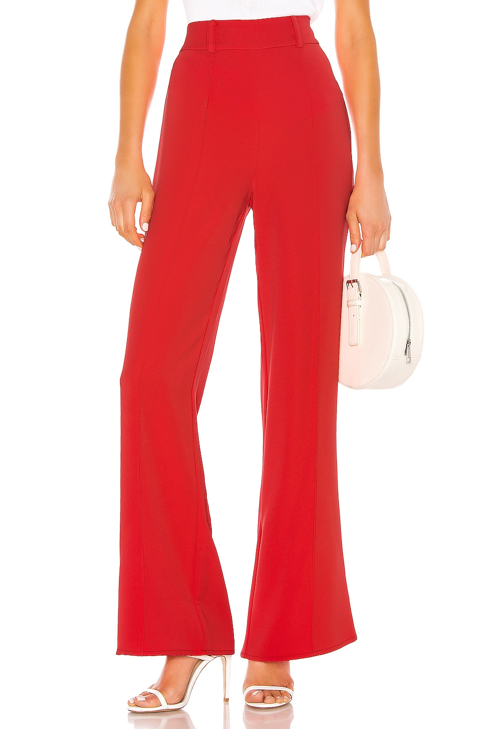 Lovers + Friends Lowell Pant in Coral Red