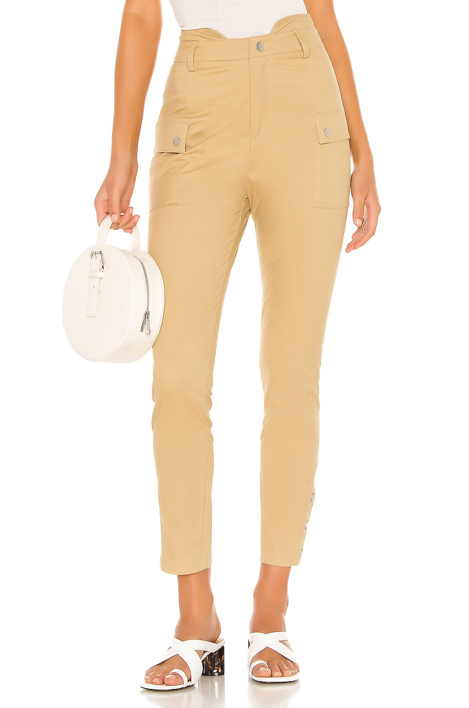 Lovers + Friends Jack Pants in Khaki