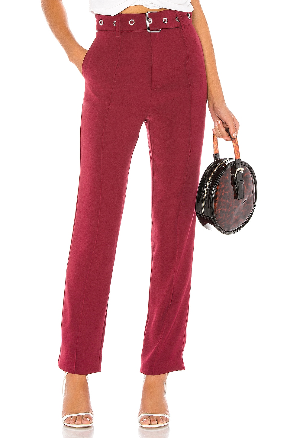 Lovers + Friends Brees Pant in Wine Red