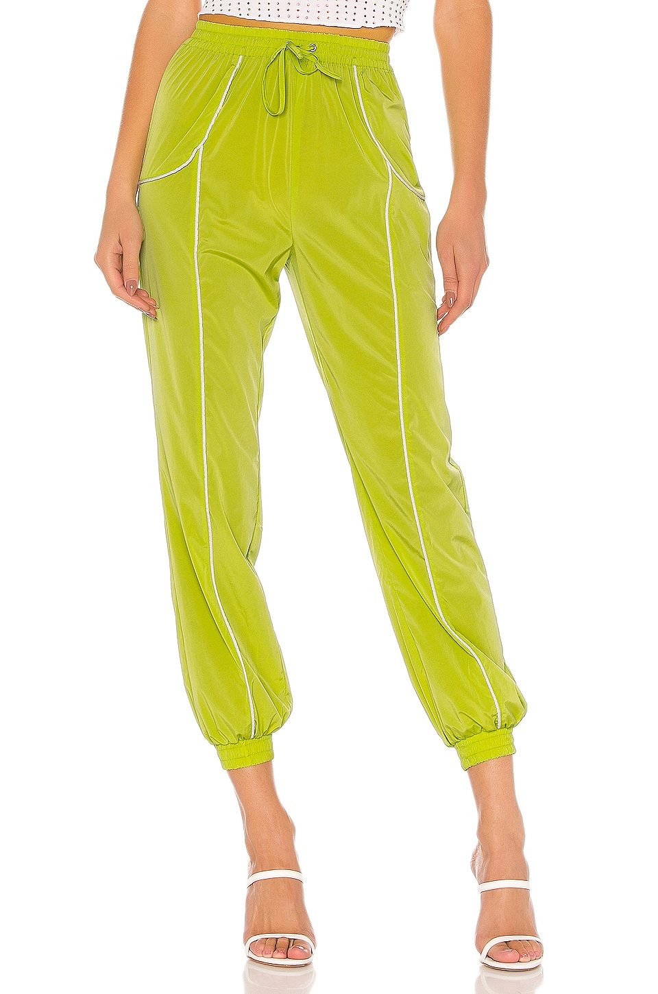 Lovers + Friends Liz Track Pant in Green