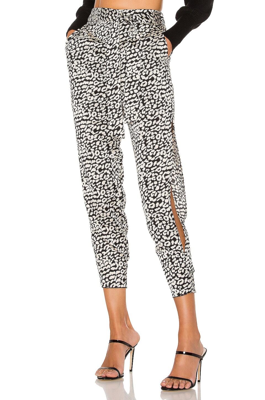 Lovers + Friends Macie Pants in Black Leopard