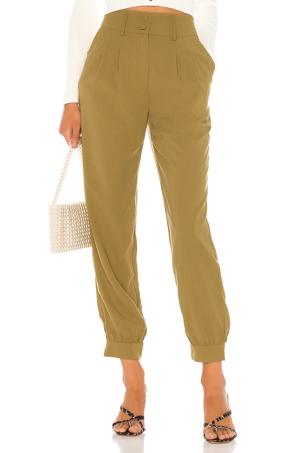 Lovers + Friends Elliot Pant in Army Green