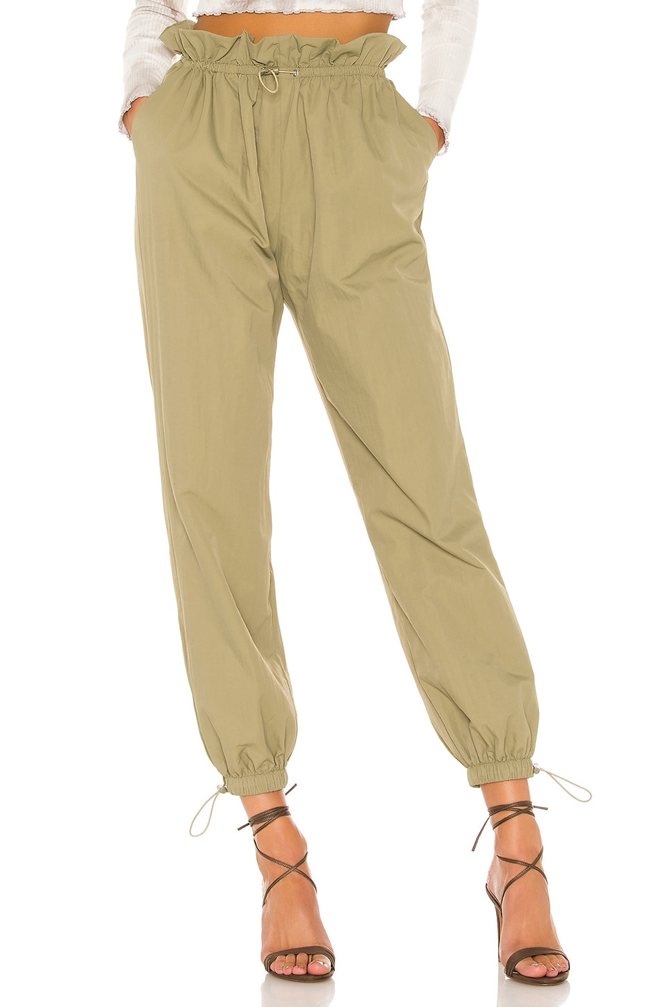 Lovers + Friends Arden Jogger in Military Green
