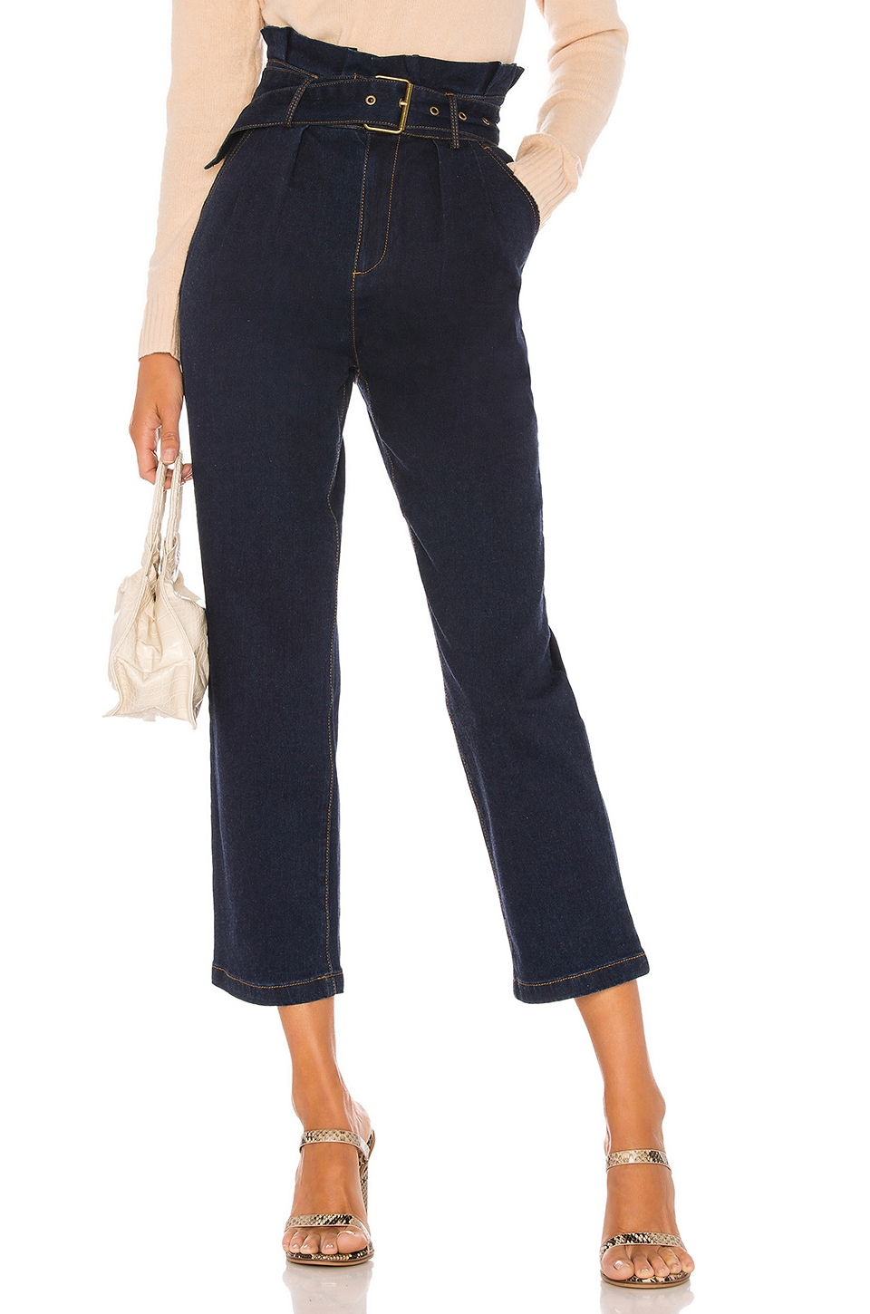Lovers + Friends Henley Pant in Dark Denim