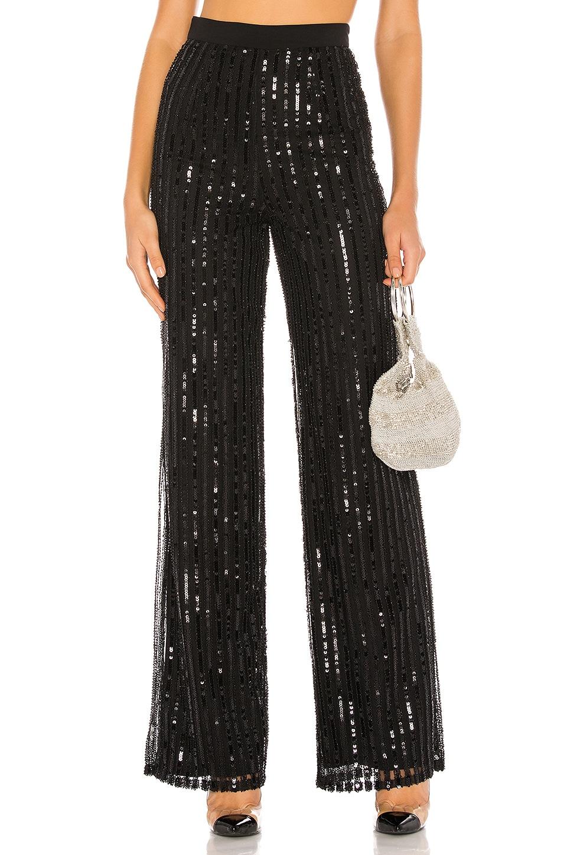 Lovers + Friends Nina Sequin Pants in Black