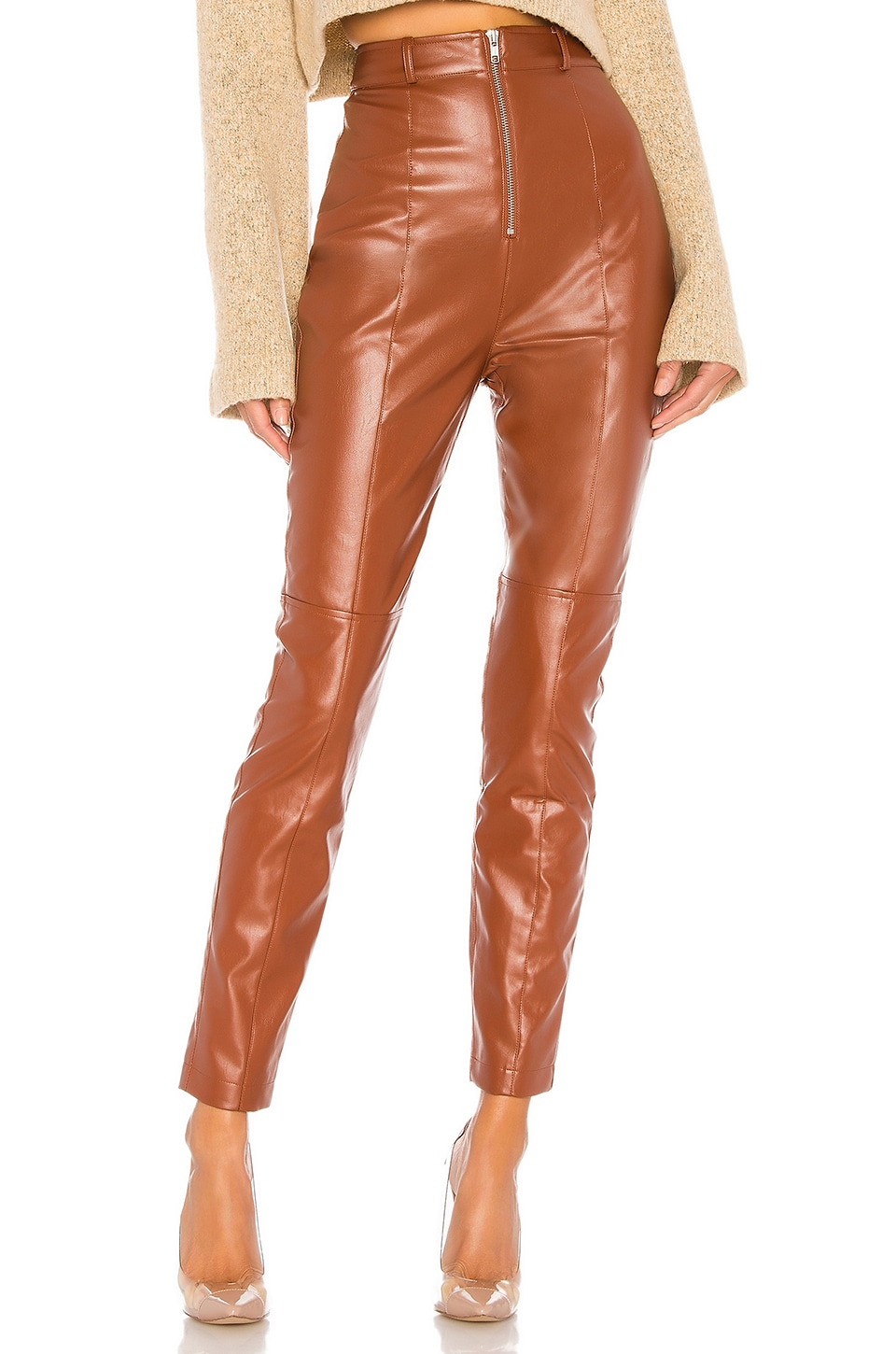 Lovers + Friends Georgie Pant in Chestnut Brown