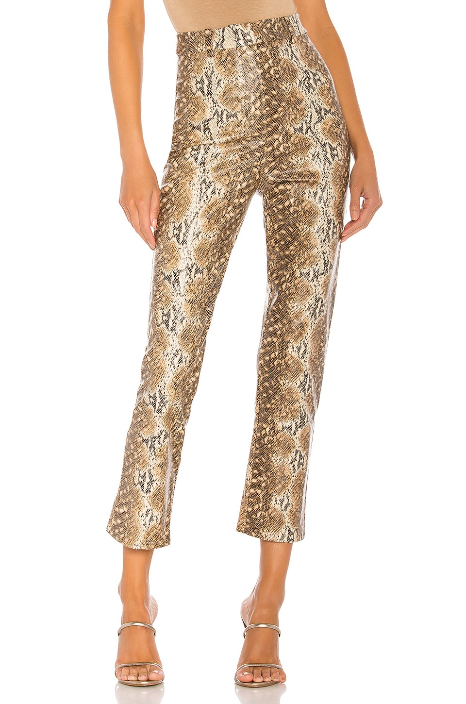 Lovers + Friends Indra Pant in Snake Skin