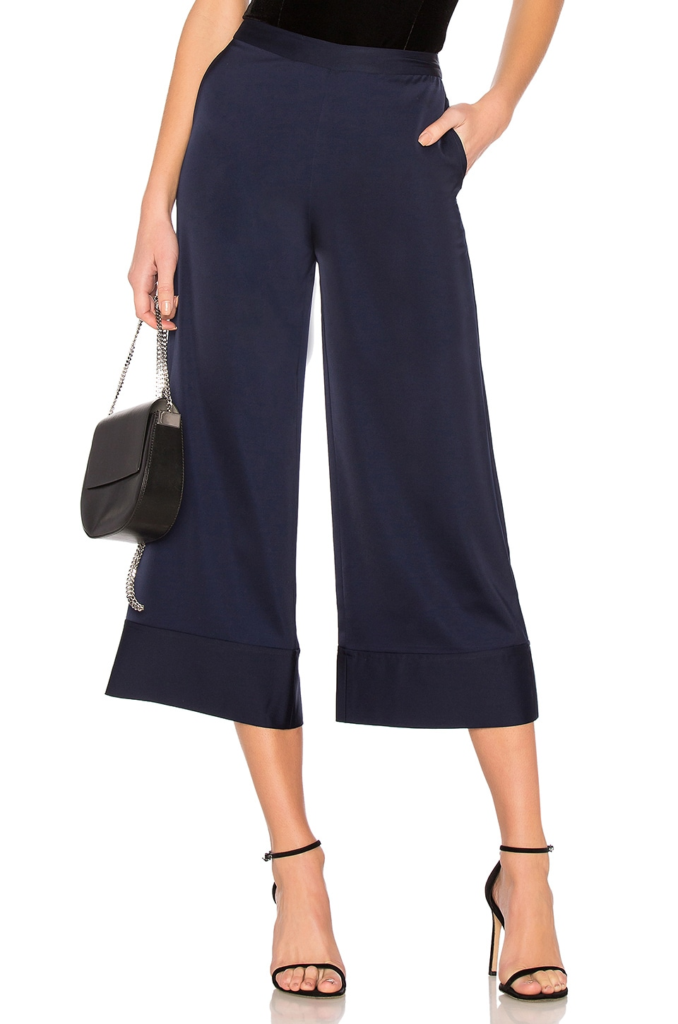 Lovers + Friends Fantasia Cropped Pant in Navy