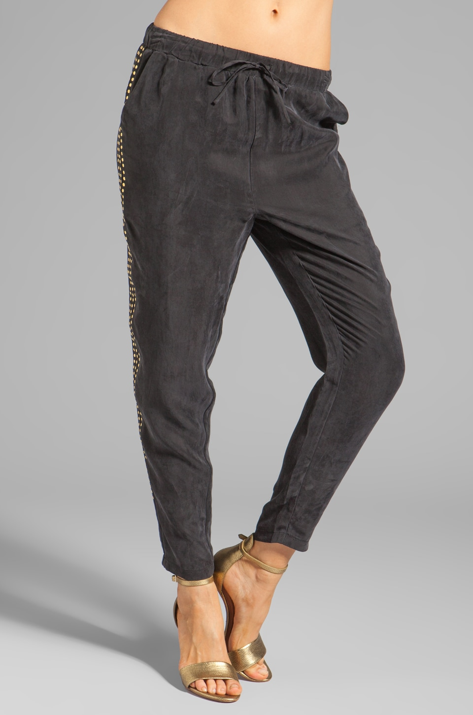 Lovers + Friends Bright Eyes Pant in Black w/ Studs