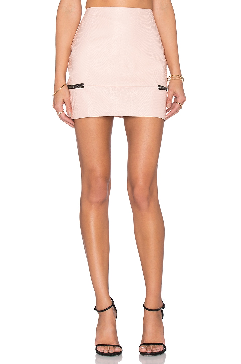 Lovers + Friends x REVOLVE Good To Be Bad Mini Skirt in Nude