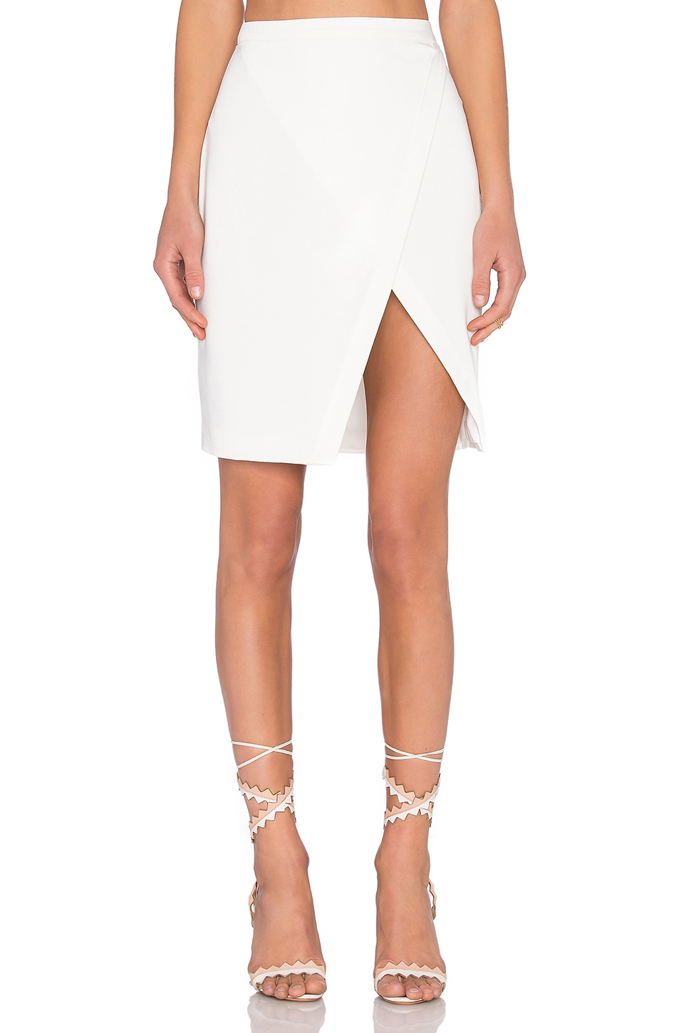 Lovers + Friends x REVOLVE Hoodwinked Skirt in Ivory