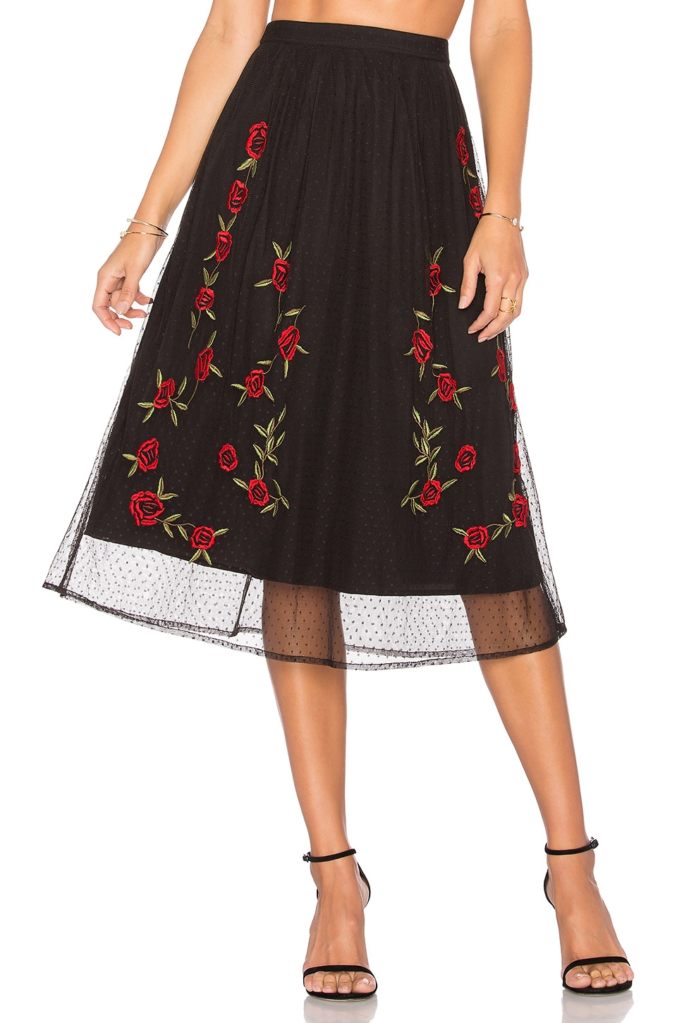Lovers + Friends Sebastian Skirt in Black