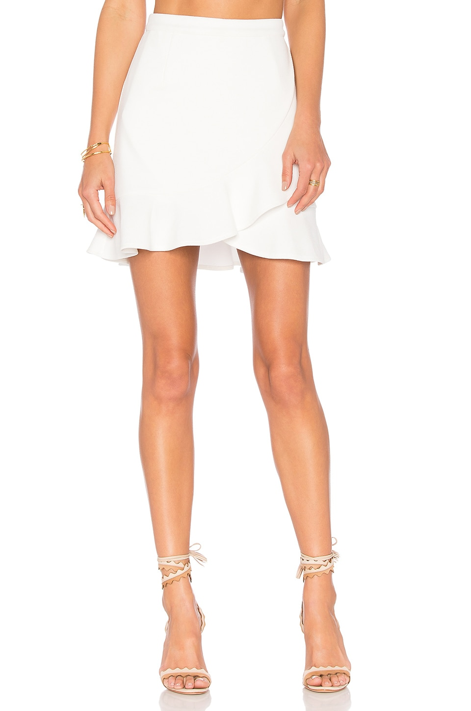 Lovers + Friends Stellar Skirt in White