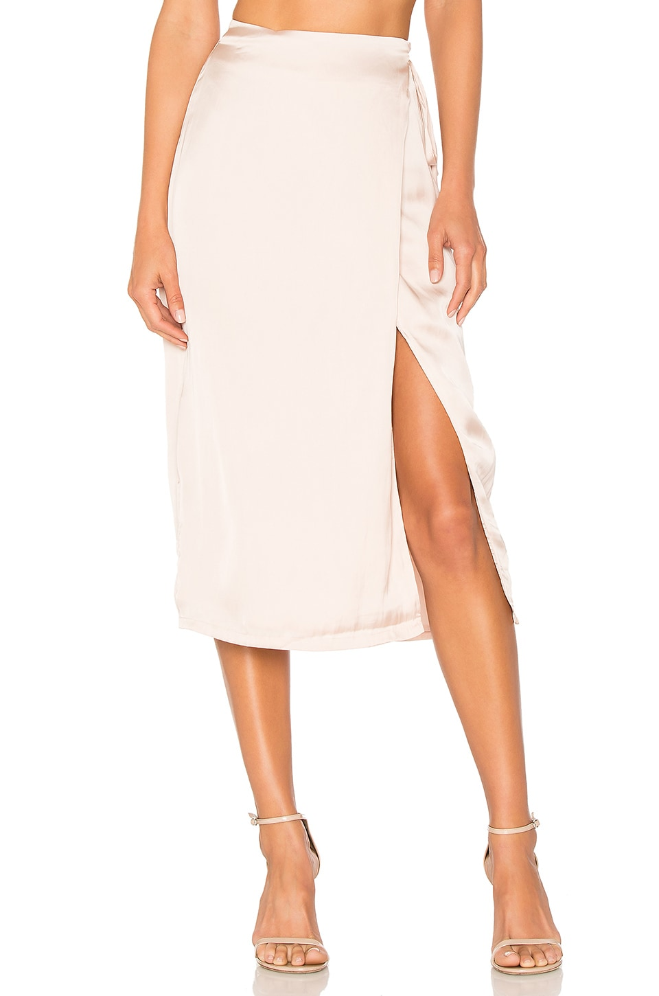 Lovers + Friends Midsummer Wrap Skirt in Champagne