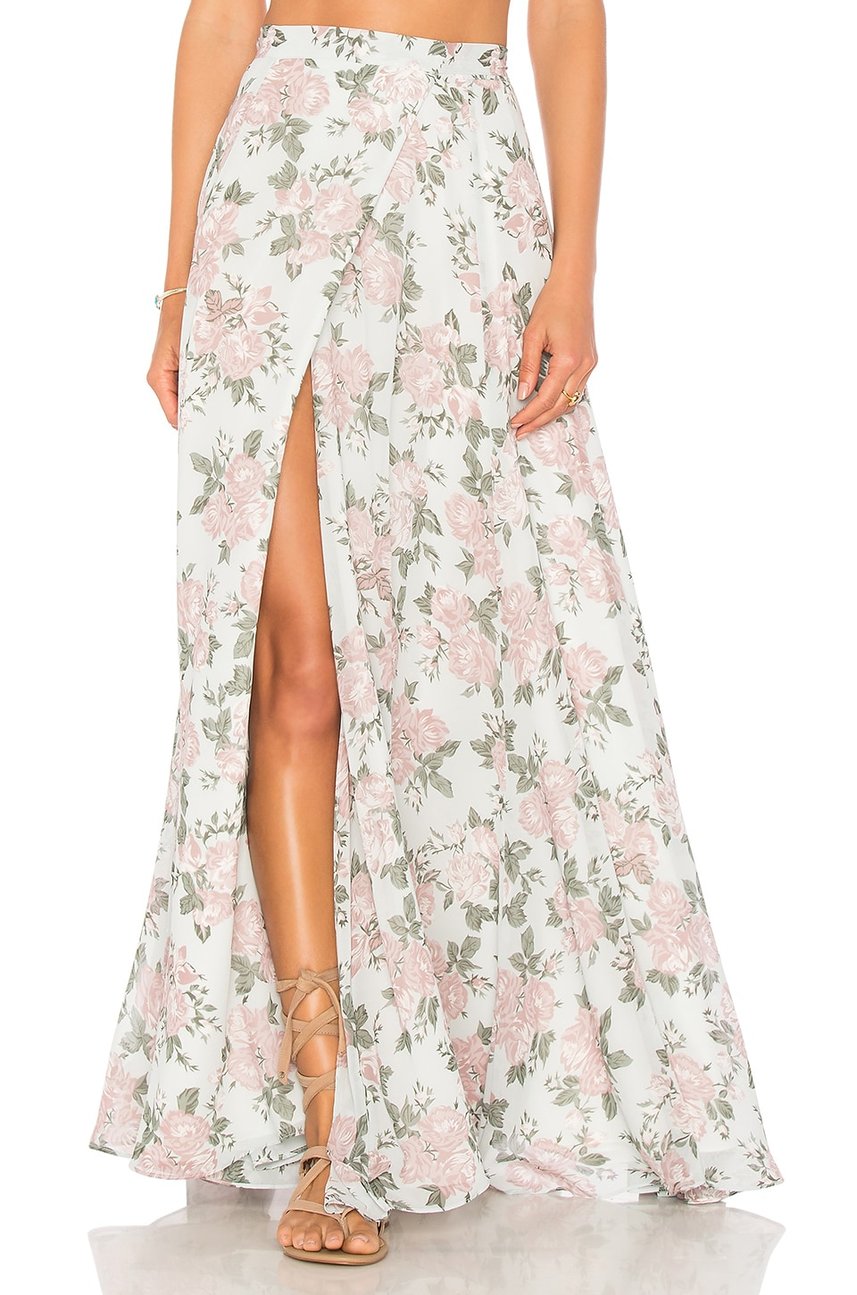 Lovers + Friends x REVOLVE Hydra Skirt in Sea Foam Flore