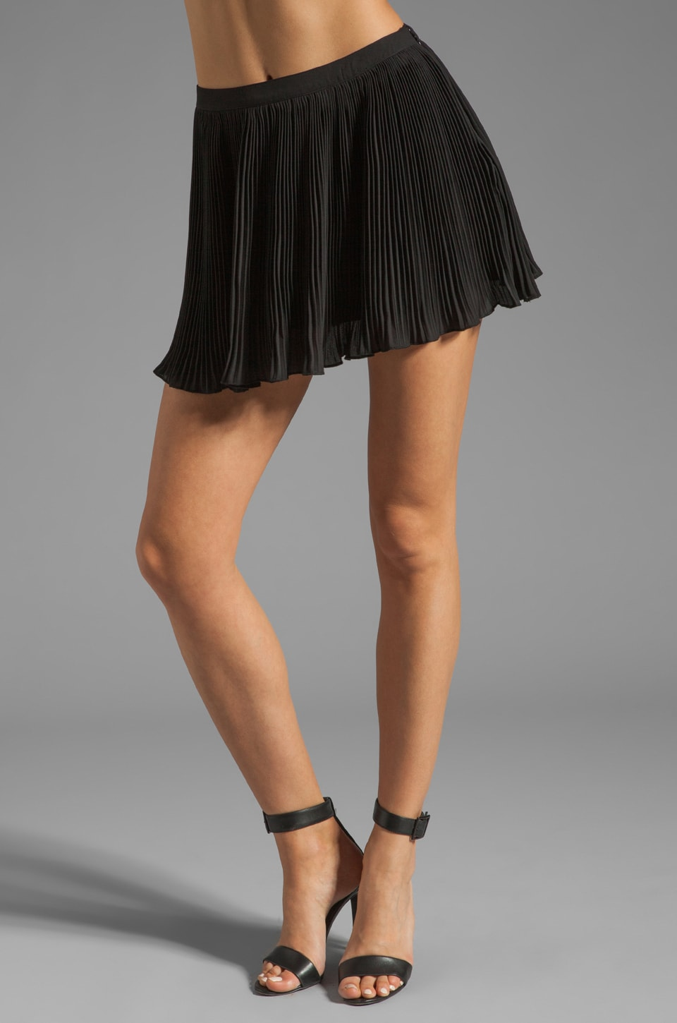 Lovers + Friends x BECAUSE IM ADDICTED Charmed Skirt in Black