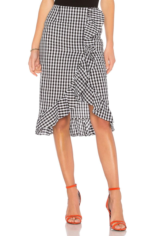 Lovers + Friends x REVOLVE Suffolk Skirt in Black & White