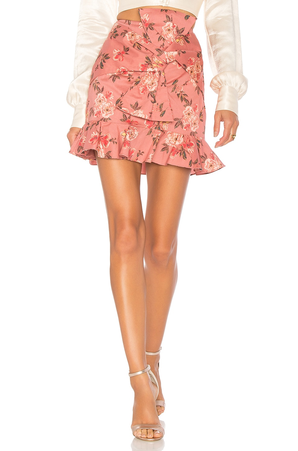 Lovers + Friends Barnes Mini Skirt in Amber Floral