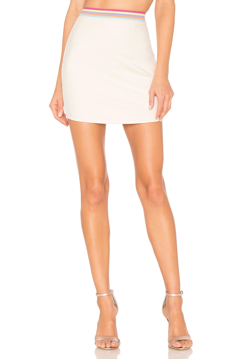 Lovers + Friends Ellen Skirt in White