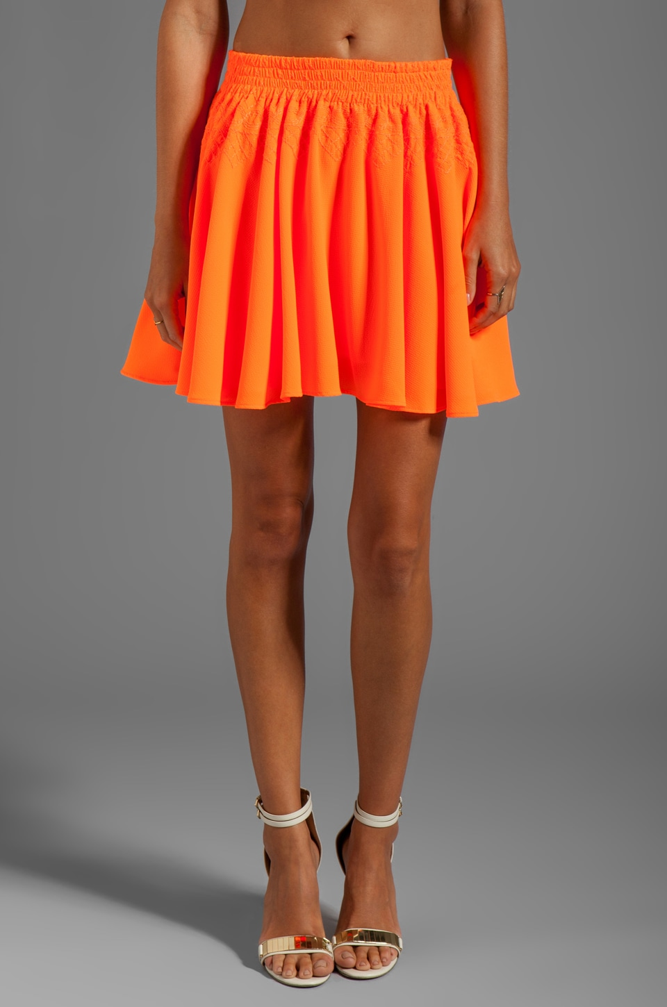 Lovers + Friends Clarita Skirt in Orange