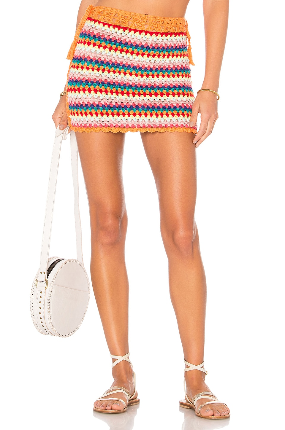 Lovers + Friends Over The Rainbow Skirt in Multi