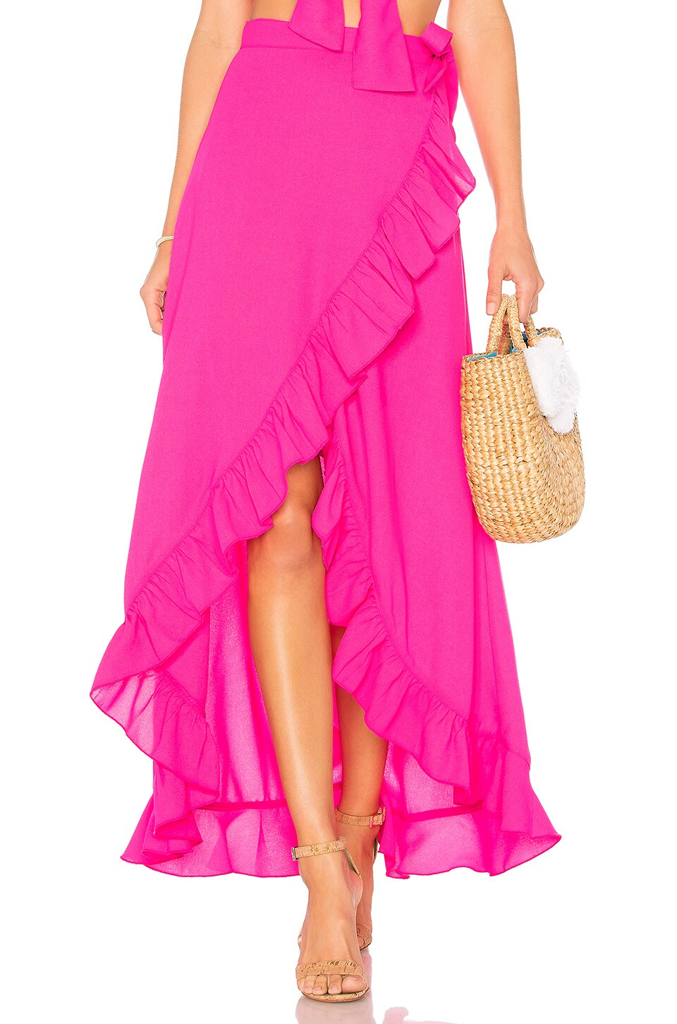 Lovers + Friends Waves For Days Wrap Skirt in Zinnia