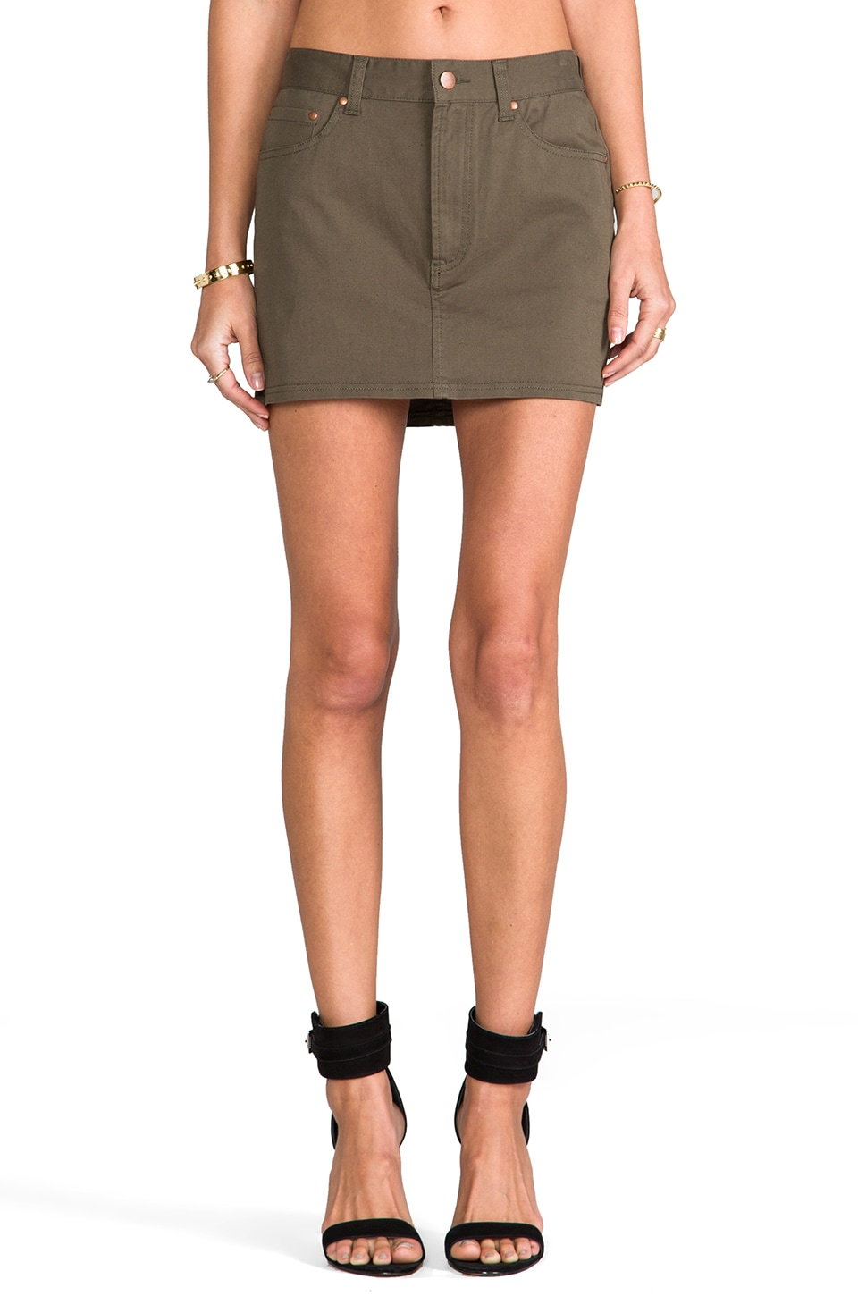 Lovers + Friends for REVOLVE Weekend Mini Skirt in Army Green