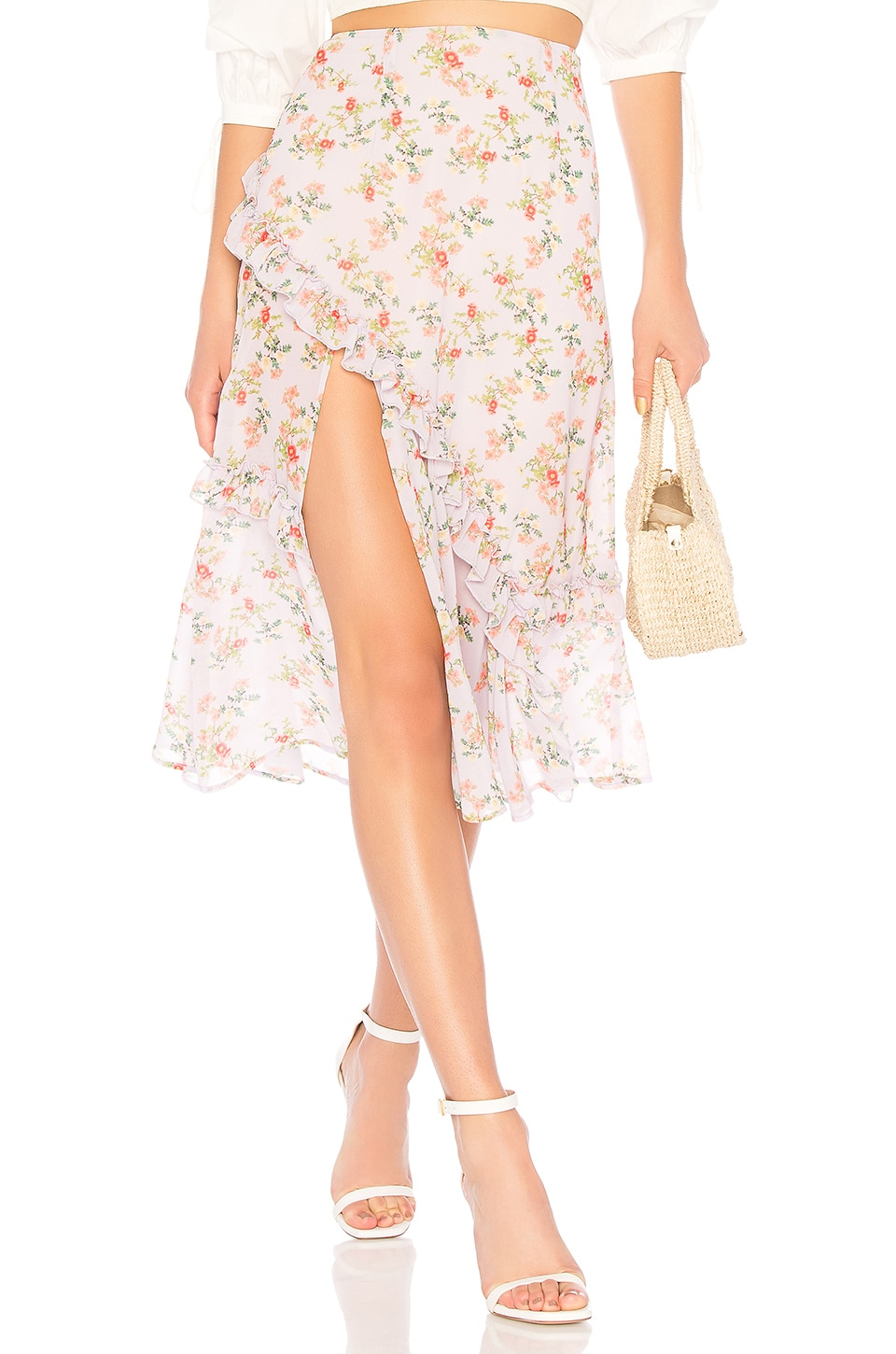 Lovers + Friends Tay Skirt in Lilac Floral