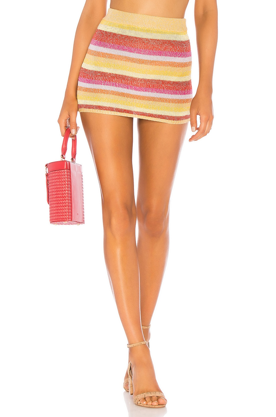 Lovers + Friends Sunset Sweater Skirt in Multi