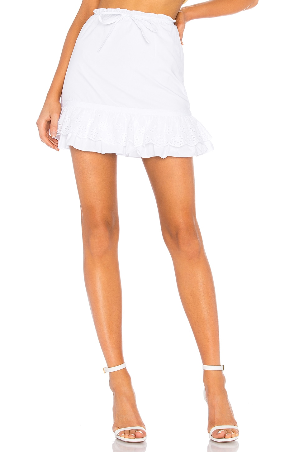 Lovers + Friends Jenna Skirt in White