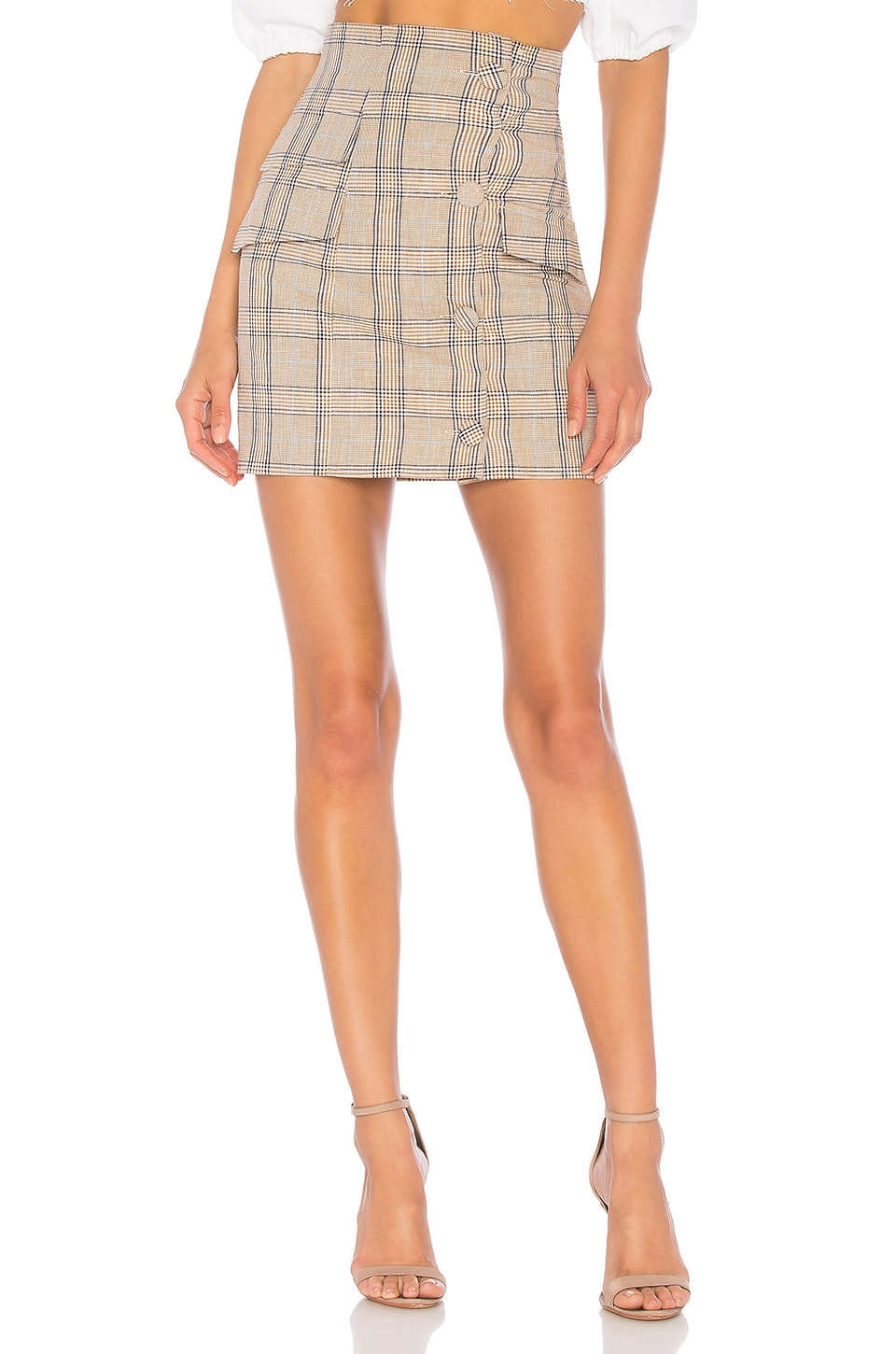 Lovers + Friends Lala Mini Skirt in Walnut