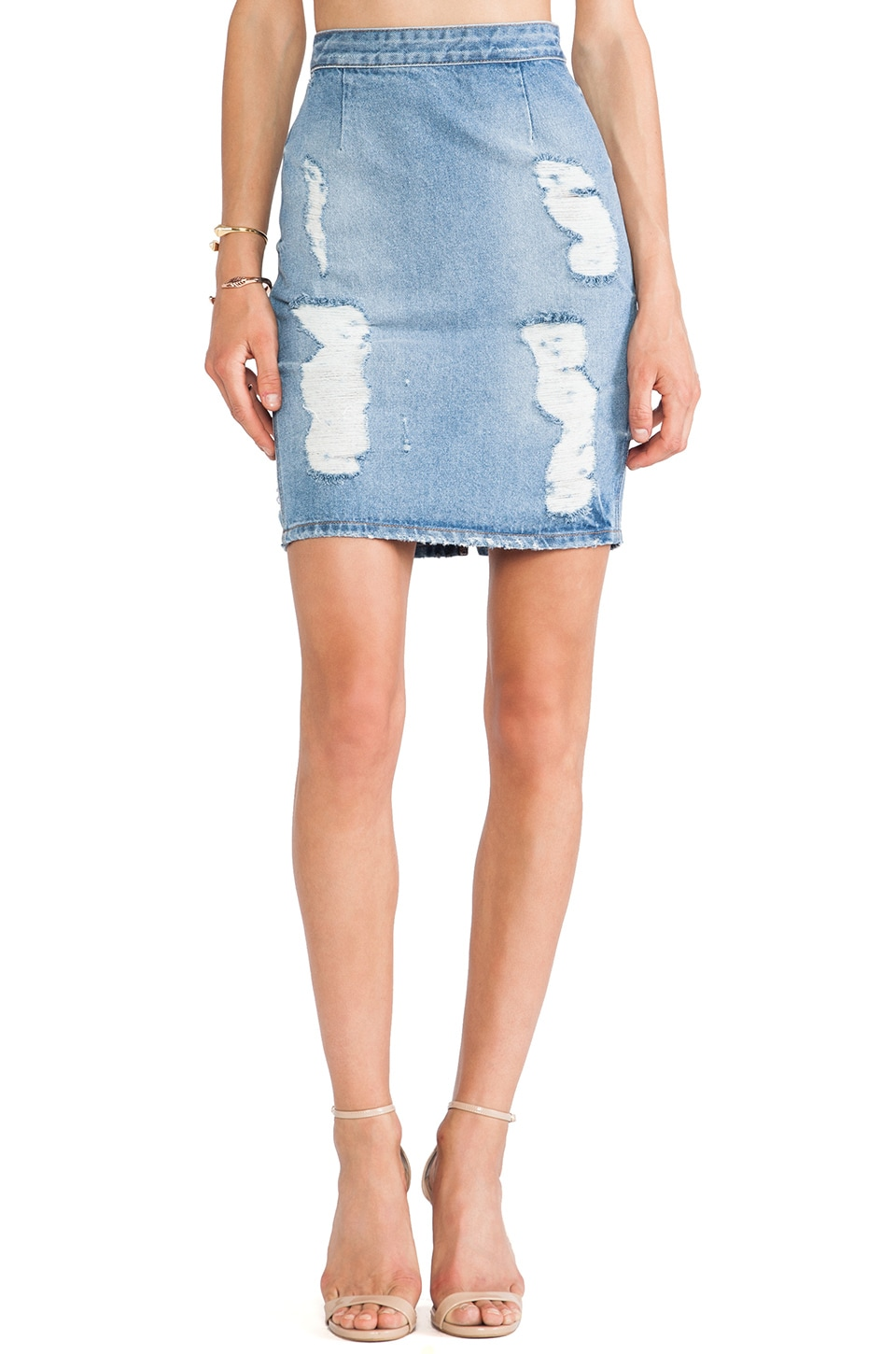 Lovers + Friends Miles Denim Skirt in Westerly