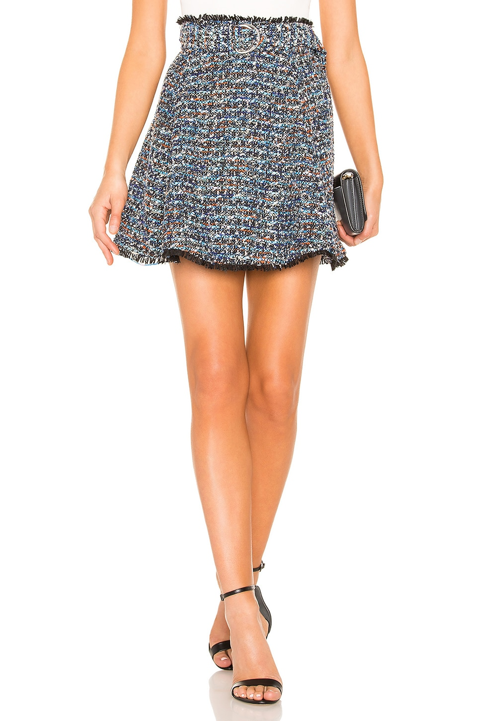 Lovers + Friends Aiden Mini Skirt in Blue Multi