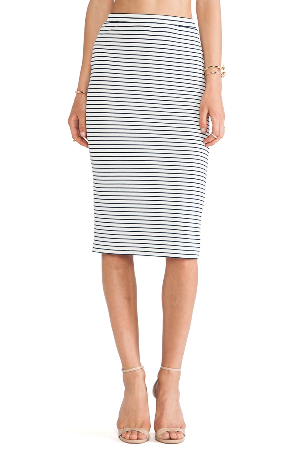 Lovers + Friends Day To Night Pencil Skirt in Stripe