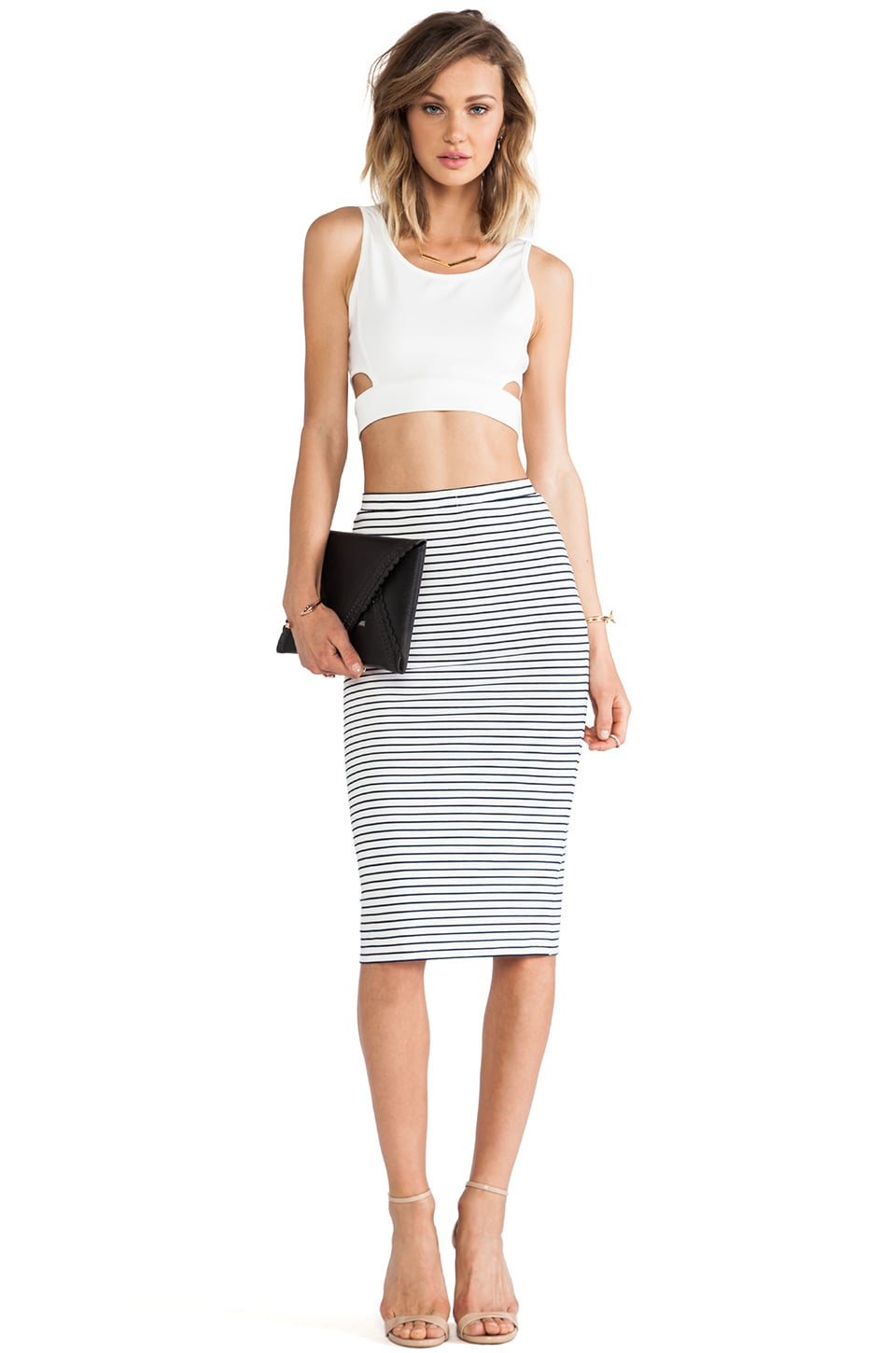 Lovers   Friends Day To Night Pencil Skirt in Stripe | REVOLVE