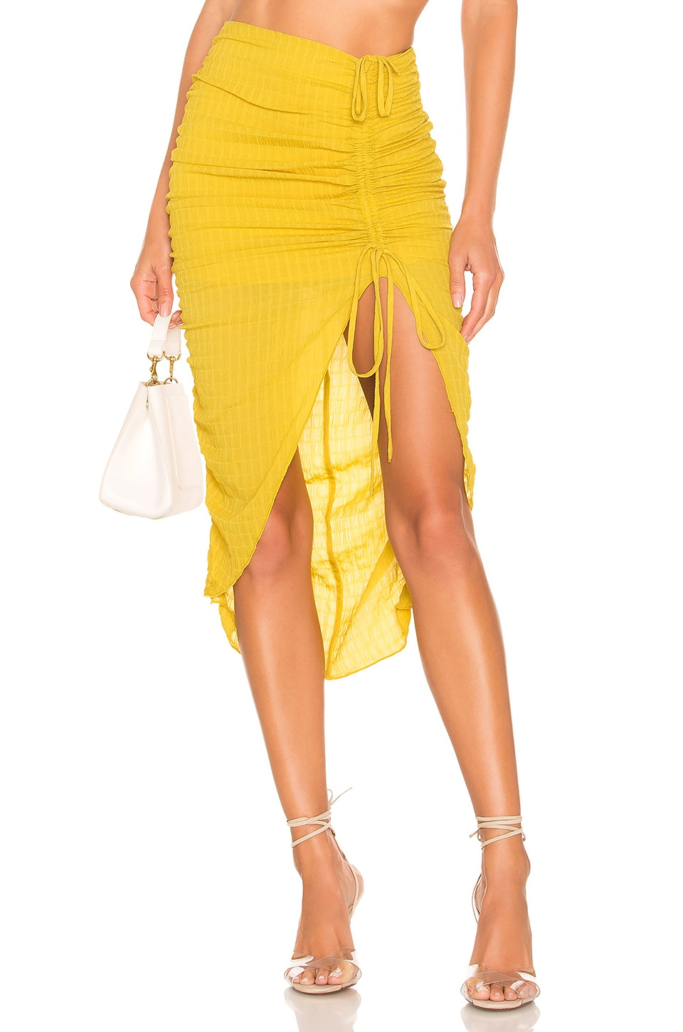 Lovers + Friends Brooke Midi Skirt in Yellow